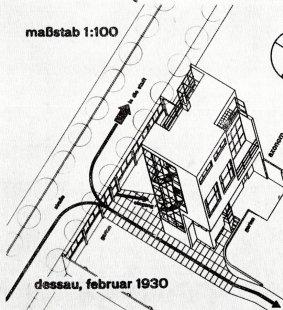 K 105. výročí narození českého architekta Václava Zralého - Návrh rodinného domu v KV: školní práce na Bauhausu, konzultant Ludwig Hilberseimer, 1930