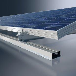 Nový montážní systém polykrystalických modulů na ploché střechy MSE 210 Aero od společnosti Schüco