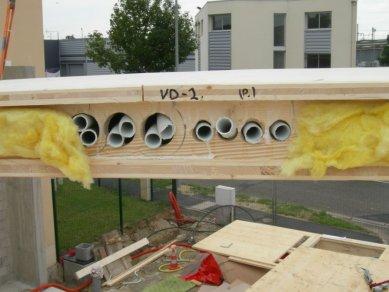 EKO-centrum pařížských zahradních architektů  - rozvody v panelech