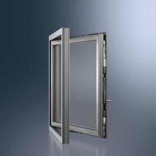 Okenní a dveřní hliníkové profily Schüco pro automatizované  a energeticky efektivní objekty - Mechatronické kování Schüco TipTronic