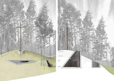 """Výsledky soutěže """"Kaple pro pietní území Ležáky"""" - 2. cena - Platform for Urban Research and Architecture, s.r.o."""