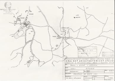 Ležáky, kam kráčíte? - Katastrální mapa (1950)