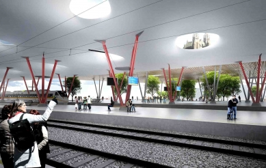 Mladí architekti navrhli novou podobu brněnského nádraží v centru - foto: Chybík + Krištof AA a Jan Vrbka