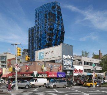 Rozhovor s Petrem Kratochvílem - Blue Tower od B.Tschumi - Blue Tower v New Yorku od Bernarda Tschumi (2007) - foto: Petr Kratochvíl/Fulbright-Masaryk grant, 2011
