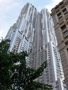 Rozhovor s Petrem Kratochvílem - Mrakodrap 8 Spruce Street v NY - Mrakodrap 8 Spruce Street v New Yorku od Franka Gehryho (2011) - foto: Petr Kratochvíl/Fulbright-Masaryk grant, 2011