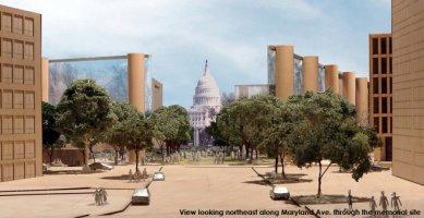 Gehryho návrh na Eisenhowerův památník rozladil rodinu - foto: eisenhowermemorial.org