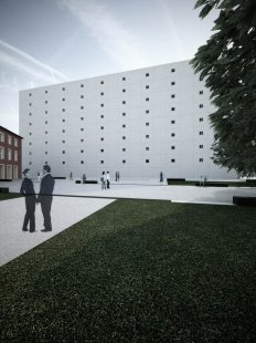 Tomáš Zdvihal (6. roč) - Neues Bauhaus Museum Weimar - Severní cíp náměstí - foto: Tomáš Zdvihal