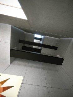 Tomáš Zdvihal (6. roč) - Neues Bauhaus Museum Weimar - Pohled muzeem vzhůru - foto: Tomáš Zdvihal