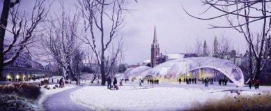 Soutěžní návrh parku v Aberdeen od Diller Scofidio + Renfro - foto: Foster and Partners