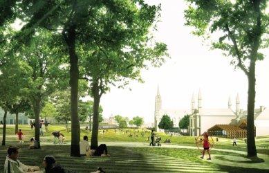 Soutěžní návrh parku v Aberdeen od Diller Scofidio + Renfro - foto: Mecanoo