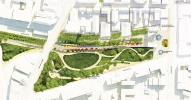 Soutěžní návrh parku v Aberdeen od Diller Scofidio + Renfro - foto: West8