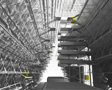 David Dvořák - Moravskoslezská studijní knihovna Ostrava - Interiér - foto: David Dvořák