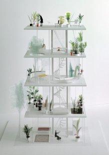 Vertikální zahrada v Tokiu od Ryue Nishizawa - Model