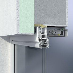 Integrovaný okenní větrací systém Schüco VentoTherm s rekuperací vzduchu, filtrem a automatizovaným ovládáním - Motoricky ovládaný větrací systém zajišťuje plynulou výměnu vzduchu.