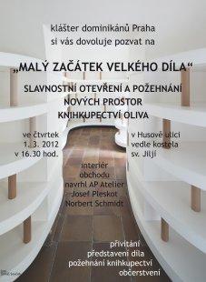 Josef Pleskot navrhl nové Knihkupectví Oliva
