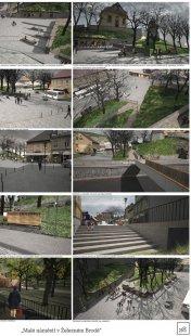 Malé náměstí v Železném Brodě - výsledky soutěže - 1. cena (110 tis. Kč): MgA. Pavel Griz, MgA. Tereza Kučerová, MgA. Patrik Zamazal