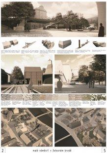 Malé náměstí v Železném Brodě - výsledky soutěže - 2. cena (70 tis. Kč): Atelier Urbi s.r.o.