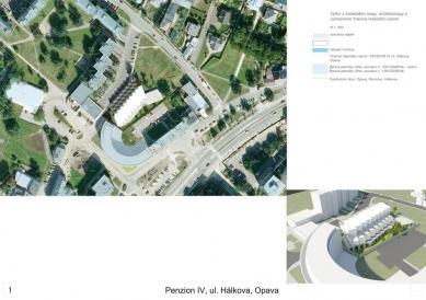 Penzion pro seniory v Opavě - výběr neoceněných projektů - Soutěžní návrh č.104 - foto: Szymon Rozwalka, Petr Jakšík, Jakub Kopec / C+HO_aR architects