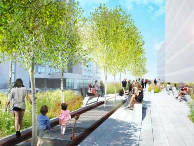 Třetí etapa rekonstrukce High Line Park od Diller Scofidio + Renfro - foto: The High Line
