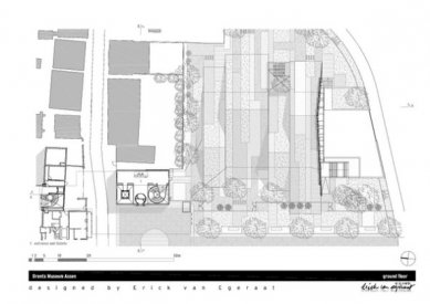 Rozšíření Drents Museum v Assen od Ericka van Egeraata - Půdorys přízemí - foto: EEA