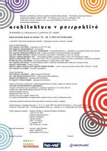 Pozvánka na konferenci Architektura v perspektivě