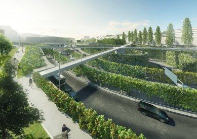 Praha chce zvelebit křižovatku Malovanka a postavit nad ní lávky - foto: opočenský valouch architekti