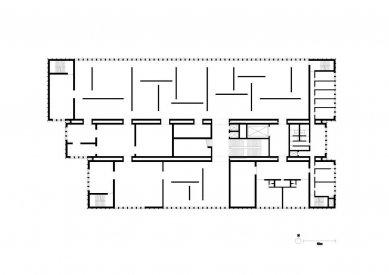Vítězný projekt muzea umění v Remeši od Davida Chipperfielda - Půdorys výstavního podlaží - foto: David Chipperfield Architects