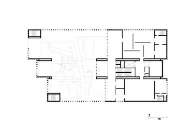 Vítězný projekt muzea umění v Remeši od Davida Chipperfielda - Půdorys přízemí - foto: David Chipperfield Architects