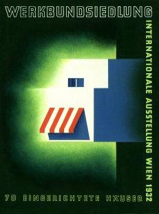 """Ve Vídni začala výstava o sídlišti Werkbundsiedlung - Joseph Binder: Návrh plakátu výstavy o """"Werkbundsiedlung""""'v roce 1932 - foto: © MAK – Austrian Museum for Applied Arts/Contemporary Art, Vienna"""