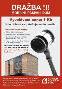 Dražba pasivní dřevostavby za 1 Kč