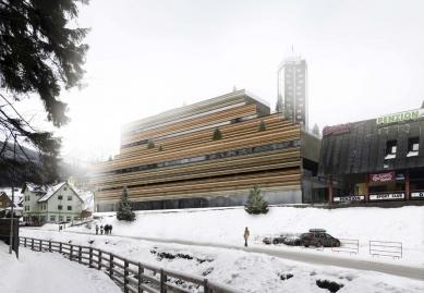 Rekonstrukce a dostavba obchodního střediska Sněžka vPeci pod Sněžkou - Bez pořadí - Fránek Architects