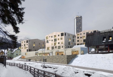 Rekonstrukce a dostavba obchodního střediska Sněžka vPeci pod Sněžkou - První místo - Opočenský Valouch architekti