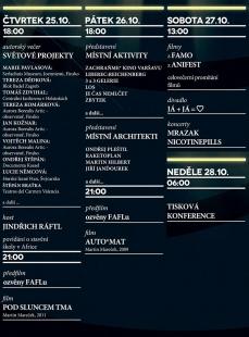 Ještěd z klece 2012 - pozvánka na zahájení v kině Varšava - foto: x-fatul