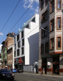 Pozvánka na vyhlášení Ceny Klubu Za starou Prahu Za novou stavbu v historickém prostředí pro rok 2012 - Brno, polyfunkční dům na třídě Milady Horákové