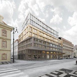 Po práci archeologů začne stavba na nejdražším pozemku v Praze - foto: ZNAMENÍ ČTYŘ - architekti