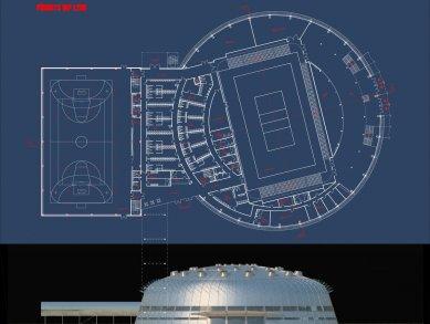Architektonická soutěž na Centrum halových sportů - 1. místo