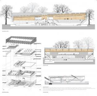Architektonická soutěž na Centrum halových sportů - 2. místo