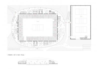 Architektonická soutěž na Centrum halových sportů - 4. místo - foto: SIAL architekti a inženýři spol. s r.o.