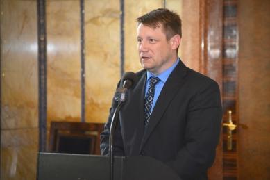 Cena Petra Parléře 2012 a 2013 - slavnostní udílení cen - Mgr. Ladislav Sedláček, místostarosta města Sokolov