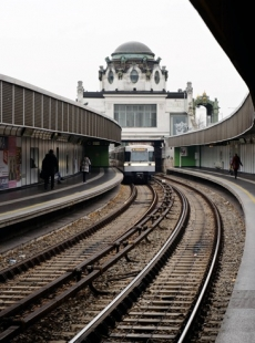 "Vídeň: Wagnerovo secesnímu ""metru"" je již 115 let - Trasa metra U4 údolím říčky Vídeňky, Wientallinie  - foto: © W. Schaub-Walzer PID"