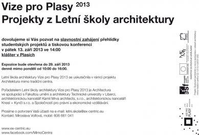 Letní škola architektury Plasy 2013 - slavnostní vernisáž