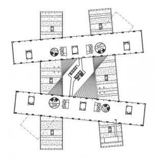 Nová 5paprsková administrativní budova energetické firmy Statoil ASA sídlí v prostorách bývalého letiště - 4NP