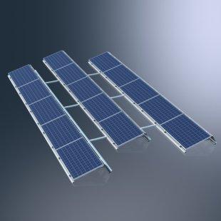 Montážní systém Schüco MSE 210 Aero 2.0 pro energetické využití plochých střech
