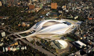 Tokio řeší spory kolem budoucího Olympijského stadionu - foto: Zaha Hadid Architects