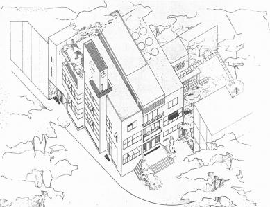 Odešel poslední Gočárův žák - Soutěžní návrh radnice, Rychnov nad Kněžnou (1940) - foto: archiv autora
