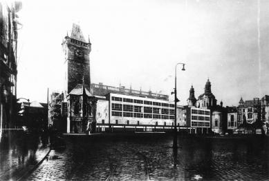 Odešel poslední Gočárův žák - Soutěžní návrh na dostavbu Staroměstské radnice (1946) - foto: archiv autora