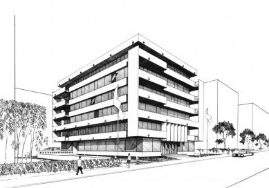 Odešel poslední Gočárův žák - Soutěžní návrh na velvyslanectví ve Stockholmu (1967-68) - foto: archiv autora