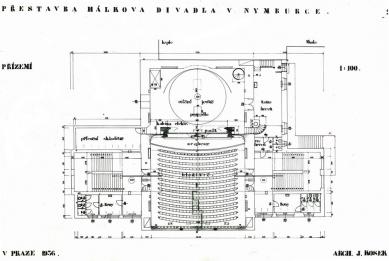 Odešel poslední Gočárův žák - Městské Hálkovo divadlo v Nymburce (1936) - foto: archiv autora