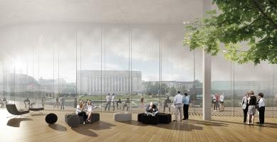 Helsinky budou mít novou knihovnu, její součástí bude i sauna - Vizualizace: VIZarch Brno