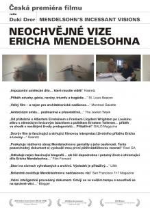 Autorské čtení a přednáška Ity Heinze-Greenberg: Erich Mendelsohn a česká premiéra filmu režiséra Duki Drora NEOCHVĚJNÉ VIZE ERICHA MENDELSOHNA